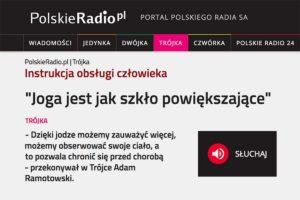 Adam Ramotowski z Joga Foksal i Bracka w wywiadzie na antenie III programu Polskiego Radia
