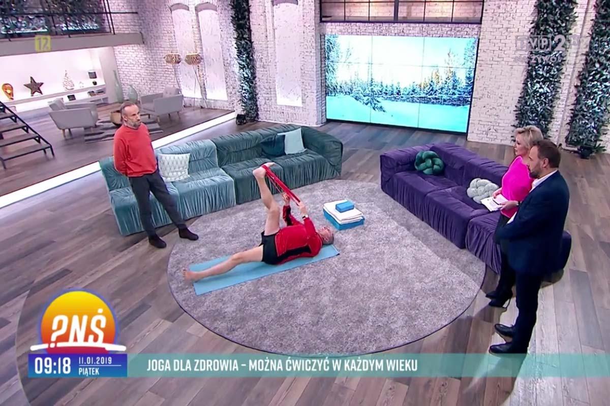 Adam Ramotowski w programie Pytanie na śniadanie w TVP2