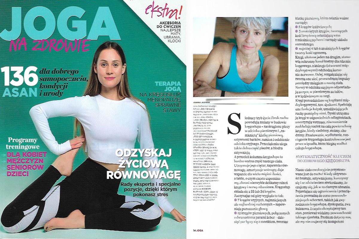 Joanna Jedynak w magazynie Joga na zdrowie