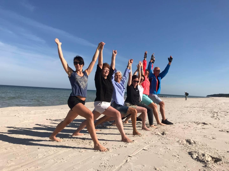 joga na Foksal nad morzem - Prusewo