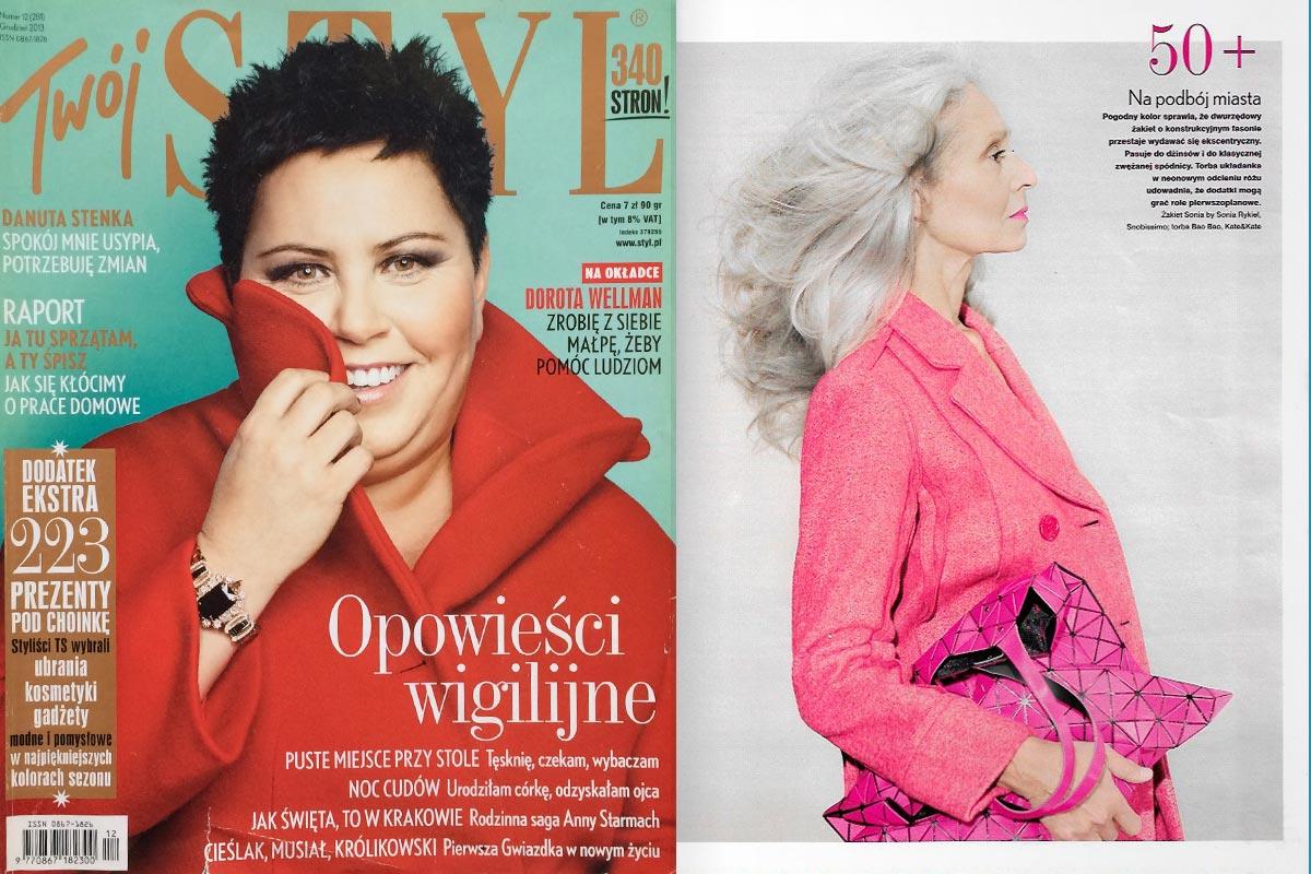 Joanna Jedynak w sesji modowej magazynu Twój Styl, grudzień 2013