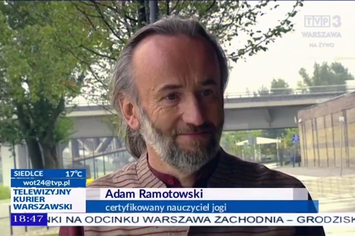 Adam Ramotowski na antenie TVP3 Telewizyjny Kurier Warszawski