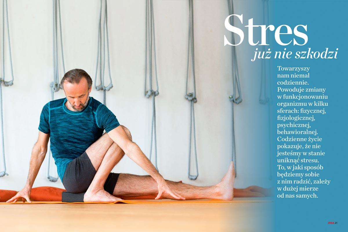 Joga na zdrowie - Adam Ramotowski o tym jak joga pozwala walczyć ze stresem