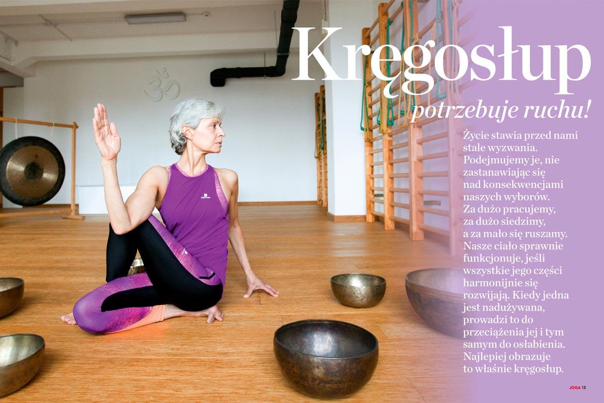 Joga na zdrowie - Joanna Jedynak mówi o tym, jak joga pomaga w walce z bólami kręgosłupa