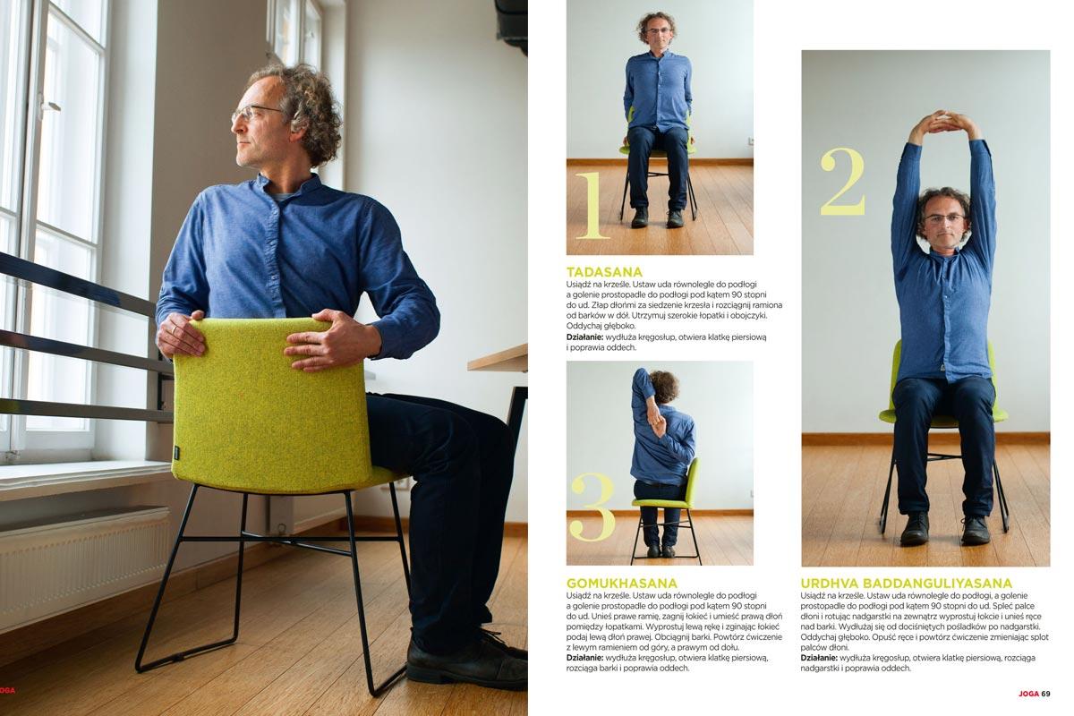 Joga na zdrowie - Robert Ściubidło przedstawia rozluźniające ćwiczenia które można wykonać w pracy przy biurku