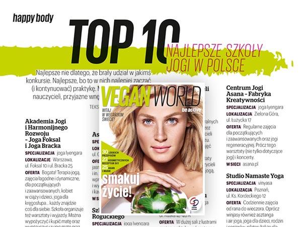 Najlepsza szkoła jogi w Polsce w rankingu magazynu Be Active